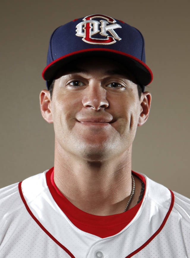 MINOR LEAGUE BASEBALL: Oklahoma City RedHawks' Brad Snyder poses for a photograph during media day for the Oklahoma City RedHawks in Oklahoma City, Tuesday, April 3, 2012. Photo by Sarah Phipps, The Oklahoman