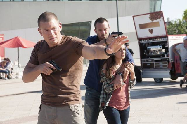 From left, Philip Winchester, Sullivan Stapleton and Amy-Leigh Hickman - Photo by Liam Daniel/Cinemax