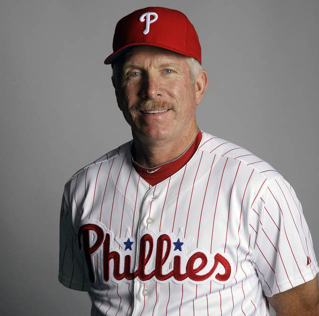 FILE- This March 1, 2012, file photo shows Mike Schmidt of the Philadelphia Phillies baseball team. (AP Photo/Matt Slocum, File)