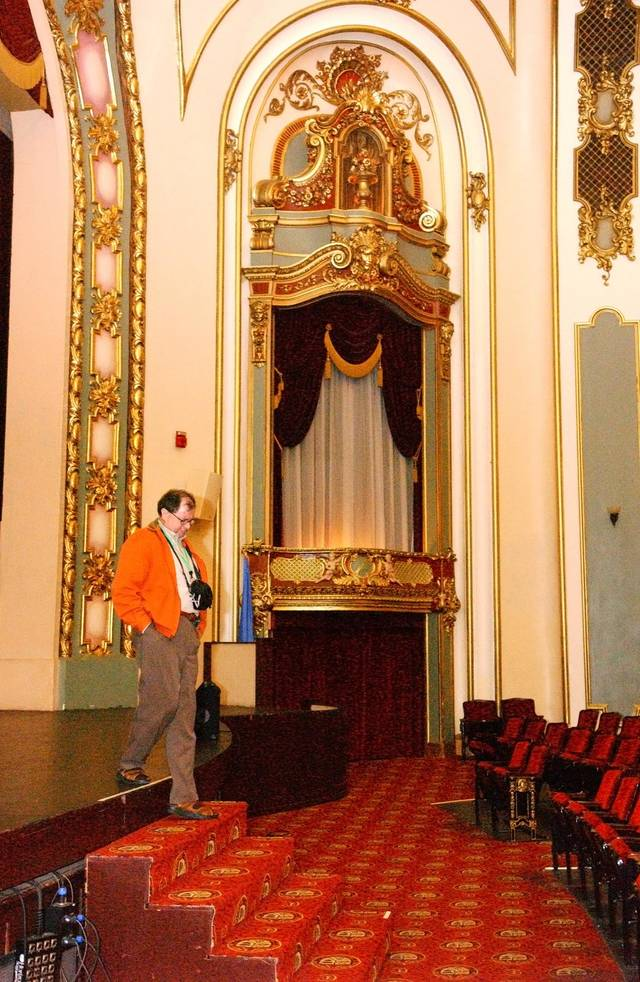 One of the Preservation Conference attendees touring the Coleman Theatre in Miami, Oklahoma Thursday afternoon, Oct. 23, 2008. BY GARY CROW, FOR THE OKLAHOMAN