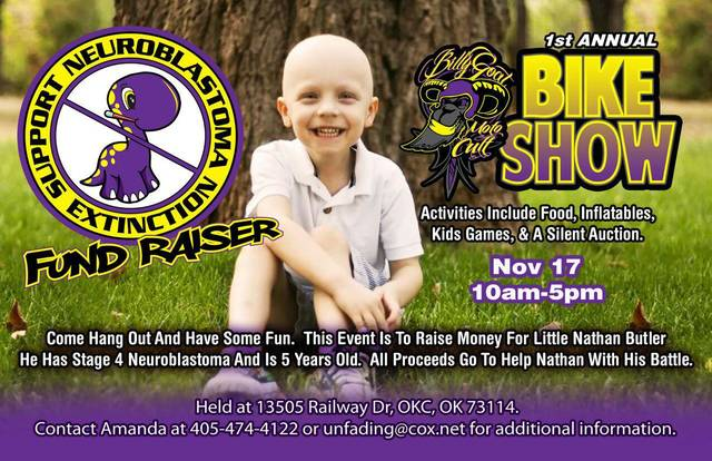 A fundraiser is planned for Saturday to help the family of Nathan Butler, who has a rare form of cancer. PHOTO PROVIDED
