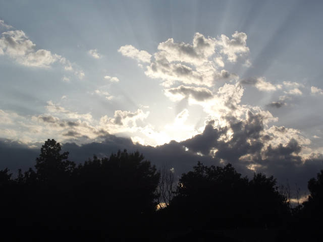 Awesome Sun Shining Behind Clouds In Shawnee Ok