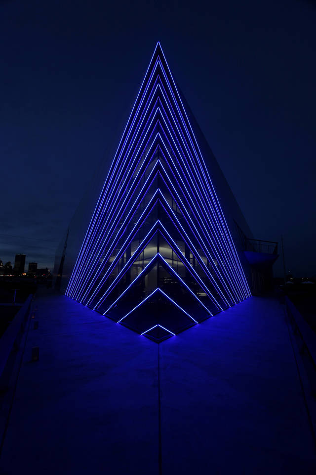 Devon Boathouse at the Oklahoma River Friday, November 11, 2011. Photo by Doug Hoke, The Oklahoman