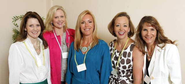 Leslie Russell, Karen Delaney, Mindy Brown, Karen Hanstein and Roberta Roush attending a Beau Arts Society coffee at the Oklahoma City Golf & Country Club in Oklahoma City Tuesday, March 27, 2012.  Photo by Paul B. Southerland, The Oklahoman