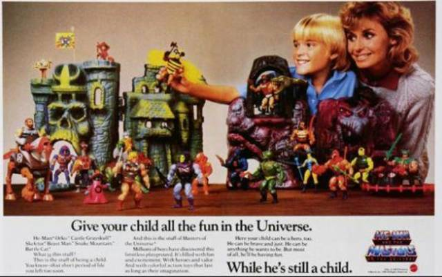 Vintage He-Man advertisement.