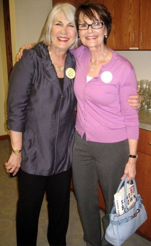 Jeary Seikel and Linda James. (Photo by Helen Ford Wallace).