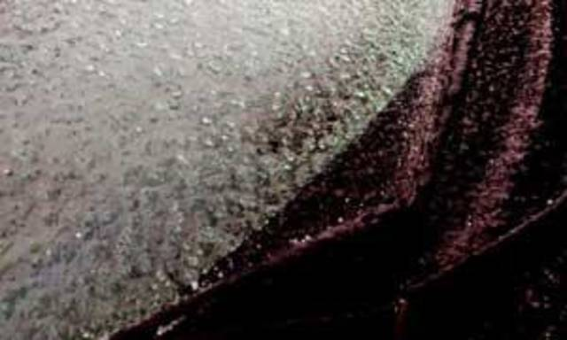 Ice on windshield of a car Tuesday morning - Photo by Jim Beckel