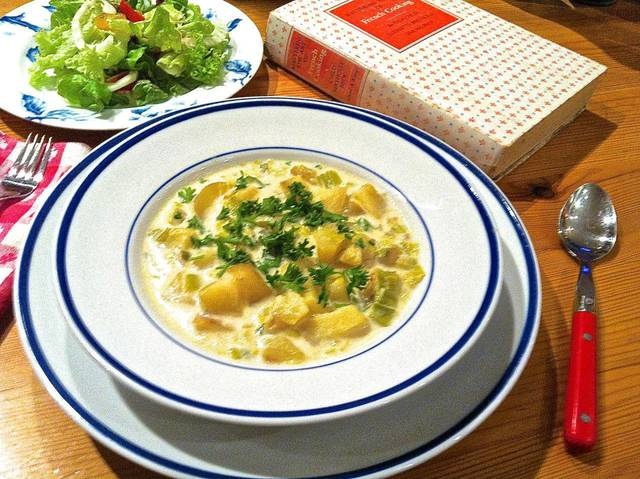 "Potato-Leek Soup inspired by ""Mastering the Art of French Cooking"" is perfect for a winter meal. <strong>SHERREL JONES - THE OKLAHOMAN</strong>"