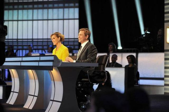 CROWD RULES -- Pictured: (l-r) Kendra Scott, Patrick Kiernan -- (Photo by: Nicole Rivelli/NBC)