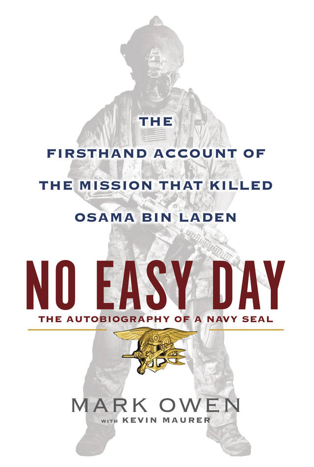 "FILE - This book cover image released by Dutton shows ""No Easy Day: The Firsthand Account of the Mission that Killed Osama Bin Laden,"" by Mark Owen with Kevin Maurer. The Pentagon's top lawyer has informed the former Navy SEAL who authored the forthcoming book describing details of the raid that killed Osama bin Laden that he violated agreements to not divulge military secrets and that as a result the Pentagon is considering taking legal action against him. The general counsel of the Defense Department, Jeh Johnson, wrote in a letter transmitted to the author on Thursday, Aug. 30, 2012, that he had signed two nondisclosure agreements with the Navy in 2007 that obliged him to ""never divulge"" classified information. Johnson said that after reviewing a copy of the book, ""No Easy Day,"" the Pentagon concluded that the author is in ""material breach and violation"" of the agreements. (AP Photo/Dutton, File)"