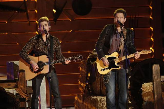 """The Voice"": From left, Colton Swon and Zach Swon of The Swon Brothers"" - Photo by Tyler Golden/NBC"
