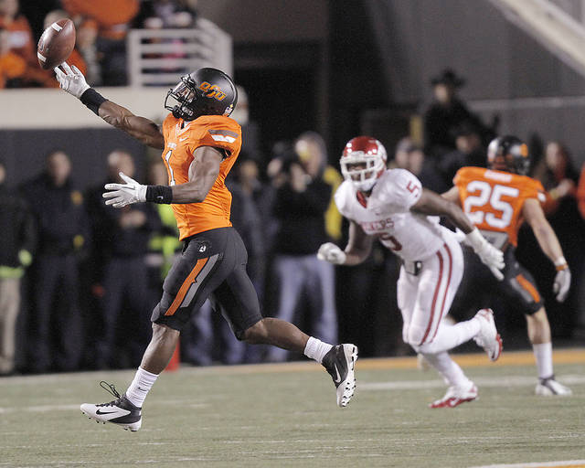 OSU�s Joseph Randle, left, is the top pass catcher among the team�s running backs since 2010.  Photo by Chris Landsberger, The Oklahoman