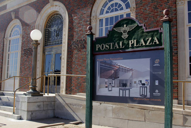Renovations to Postal Plaza in Stillwater are scheduled to be complete this fall.  Photo by Jonathan Sutton, The Oklahoman