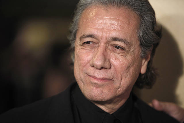FILE - In this Jan. 31, 2009 file photo, Edward James Olmos arrives at the Directors Guild of America Awards in Los Angeles. Olmos is promoting Ancestry's new service which includes information found in Mexico's 1930's census, the most comprehensive up to that time. Ancentry hopes to increase interest from the nearly 32 million Mexican-Americans living in the U.S. (AP Photo/Matt Sayles, File)