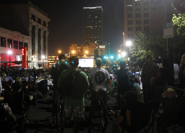 "People watch the premiere of ""Talihina Sky"" at the deadCenter film festival, Wednesday, June 8, 2011. Photo by Sarah Phipps, The Oklahoman"