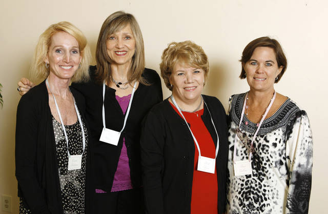Carrie Katigan, Vicki Williams, Beth Kerr, Anne Collins. PHOTO BY PAUL B. SOUTHERLAND, THE OKLAHOMAN <strong>PAUL B. SOUTHERLAND</strong>