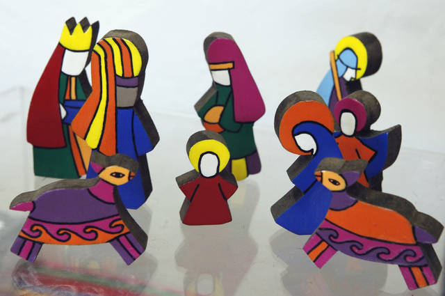 This Nativity scene from El Salvador is for sale at  Pambe Ghana Global Market. Photo By David McDaniel, The Oklahoman. <strong>David McDaniel - The Oklahoman</strong>