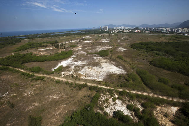 View of the area where the Rio 2016 Olympic golf course is planned to be built in Rio de Janeiro's Barra da Tijuca neighborhood, Brazil, Friday, April 20, 2012. Rio 2016 organizers are facing an unexpected challenge to deliver the first Olympic golf tournament in more than 100 years because of a legal dispute over the land where the historic course is supposed to be built. The dispute could force city officials to have to find a new location, meaning the project would have to start from scratch and organizers could have problems getting the course ready in time for test events in 2015 as initially planned. (AP Photo/Victor R. Caivano)