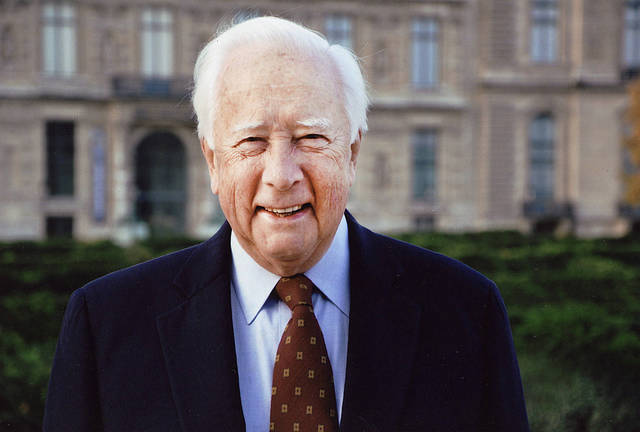 Pulitzer Prize-winning historian David McCullough spoke Monday at the University of Oklahoma as a part of a lecture series on the Great Depression and World War II. Photo provided