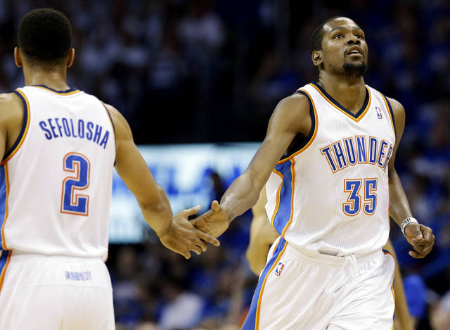 The Thunder won its preseason opener on Saturday. (AP Photo/Tony Gutierrez)
