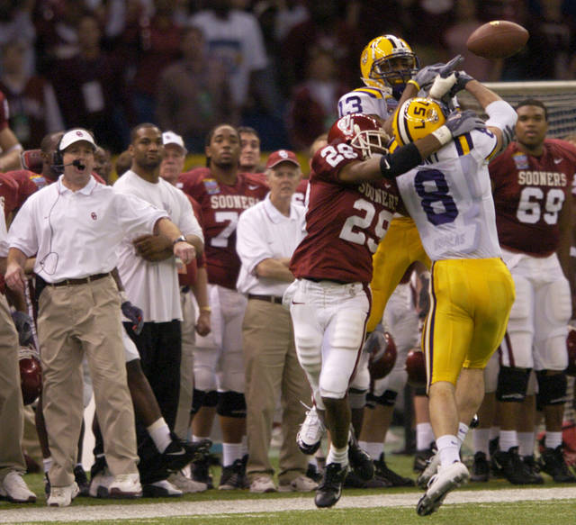The Sooners' last Sugar Bowl experience was a narrow loss to LSU in 2003. Photo by Bryan Terry, The Oklahoman.