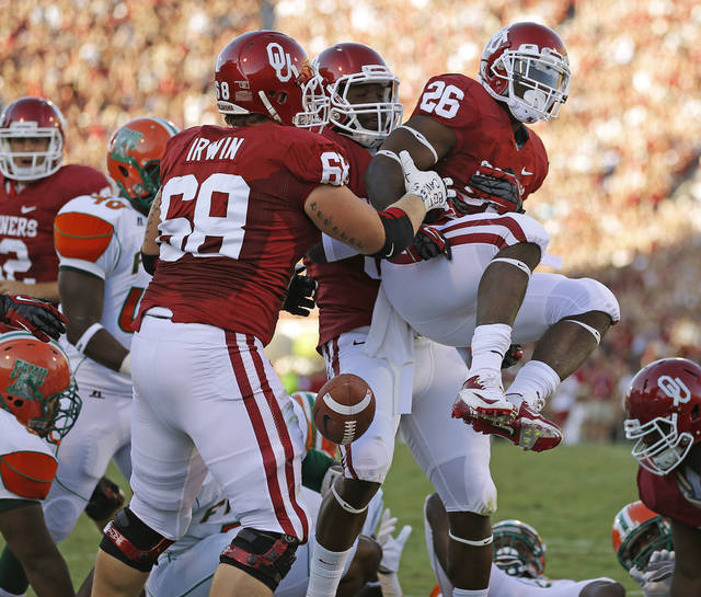 during the college football game between the University of Oklahoma Sooners (OU) and Florida A&M Rattlers at Gaylord Family�Oklahoma Memorial Stadium in Norman, Okla., Saturday, Sept. 8, 2012. Photo by Bryan Terry, The Oklahoman