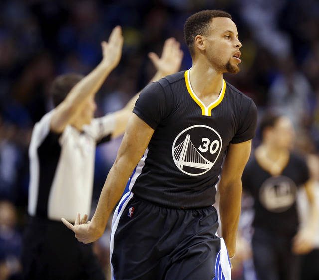 Warriors Record Without Stephen Curry 2017: OKC Thunder: Golden State's Steph Curry Goes Deep To Break