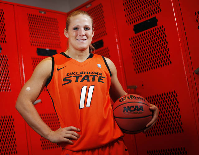 OSU women's college basketball player Jenni Bryan (11) poses for a portrait at Oklahoma State University in Stillwater, Okla., Thursday, Oct. 27, 2011.  Photo by Nate Billings, The Oklahoman ORG XMIT: KOD
