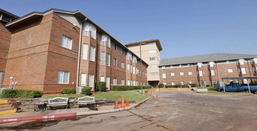 The exterior of Tealridge Retirement Community is seen Friday in Oklahoma City.  Photos by Paul B. Southerland, The Oklahoman