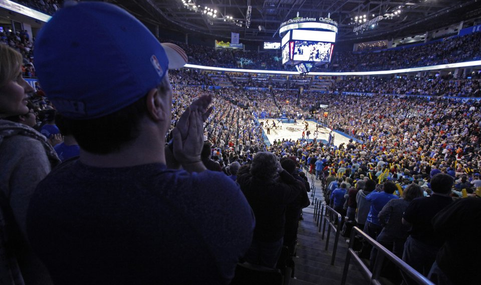 separation shoes 5e1d6 3f69b OKC Thunder: Games continue to sell out at Chesapeake Energy ...