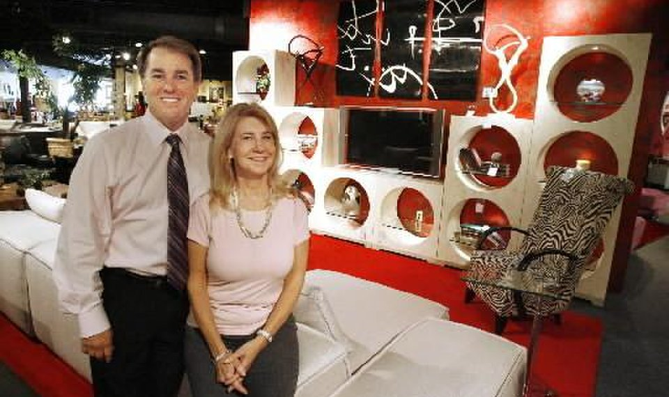 Jeff Burt And Sherry At Their Suburban Contemporary Furniture In Oklahoma City Wednesday