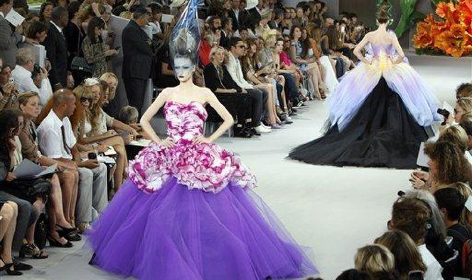 Paris couture blooms with colorful gowns from Dior