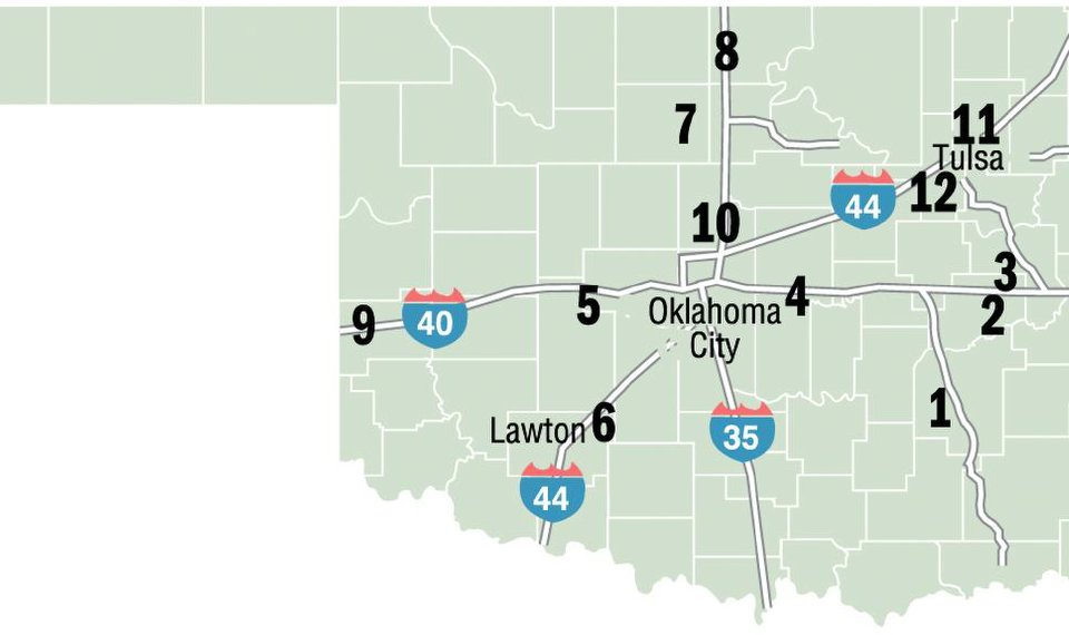 Road conditions may cause delays in Oklahoma on oklahoma county maps and highways, oklahoma voting districts, oklahoma turnpike maps and rates, york pa street map, arkansas highway road conditions map, oklahoma i-40 road conditions, us hwy 67 map, oklahoma fairgrounds speedway, oklahoma grand lake casino, i-40 route map, national highway 40 map, choctaw ok city limits map, streets of waterloo ia map, u.s. route 40 map, us 40 map, oklahoma i-40 rest areas, new mexico i-40 map, show directions on a map, oklahoma fishing maps, i 40 texas map,