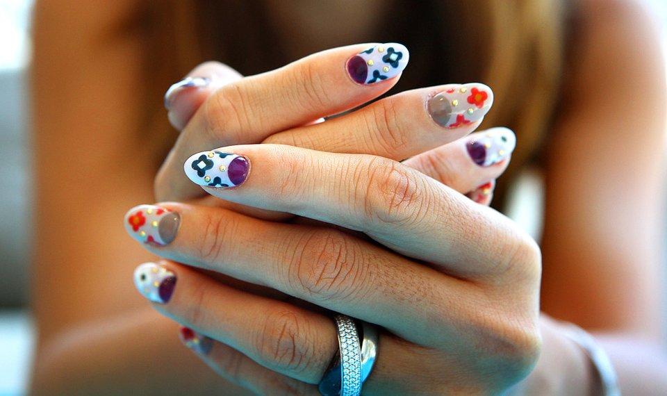 Owner Hiroko Fujikawa Shows Off Her Nail Design Inspired By The Prada Fall Winter Collection