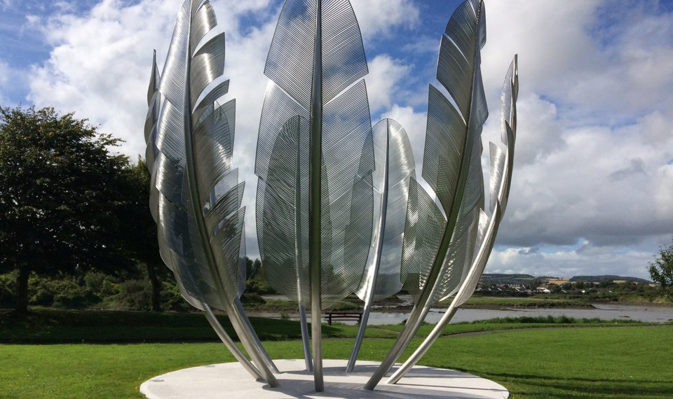 Irish Honor Choctaw Nation With Kindred Spirits Sculpture