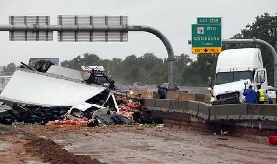 Interstate 35 reopens after semi accident