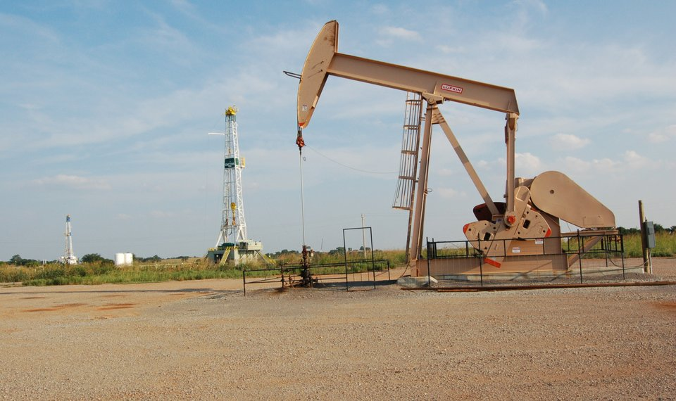 Image result for picture of oil rig in oklahoma