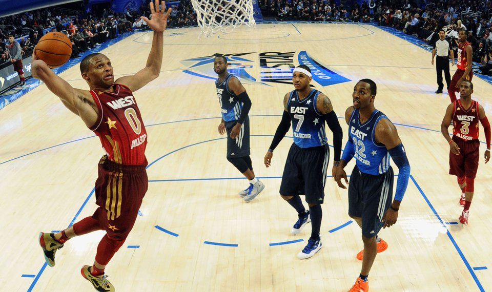 Nba All Star Game Notebook Russell Westbrook Dazzles In Second All Star Game