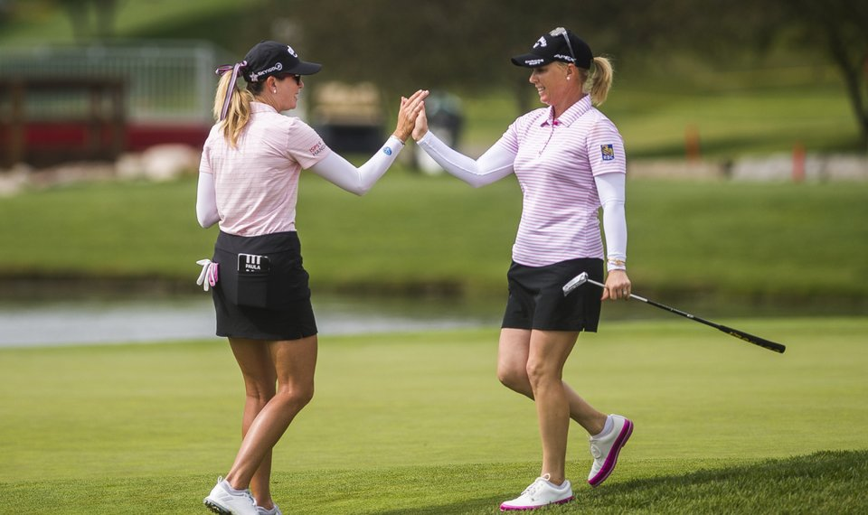 Pressel, Creamer tied for lead in LPGA Tour team event