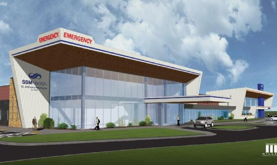 The future SSM Health St. Anthony Healthplex in El Reno is shown in this rendering. Officials broke ground for it Tuesday. [IMAGE PROVIDED]