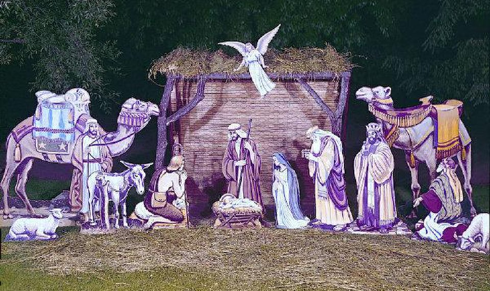 outdoor nativity scenes for churches this dramatic outdoor nativity scene is printed on weatherresistant poster paper and glued to project of the week outdoor offers peaceful