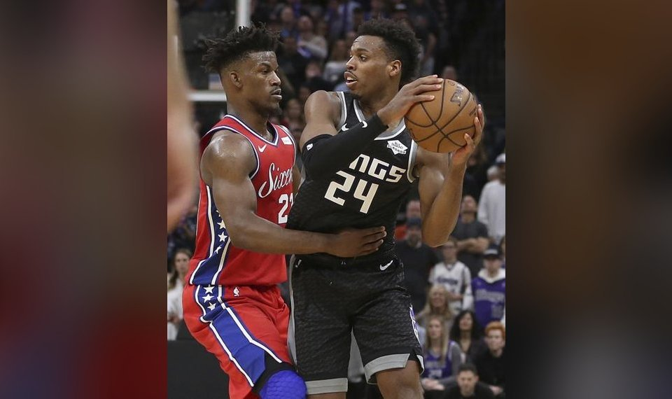 Former Oklahoma star Buddy Hield, right, is one of the NBA's deadliest 3-point shooters. Hield now plays for the Sacramento Kings. [AP Photo/Rich Pedroncelli]
