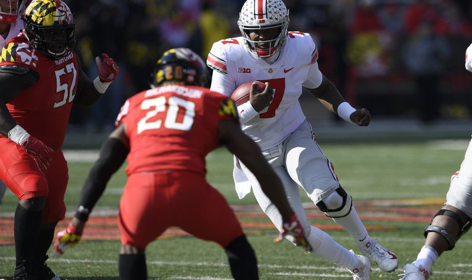 College Football Roundup Ohio State Rallies To Beat Maryland 52 51
