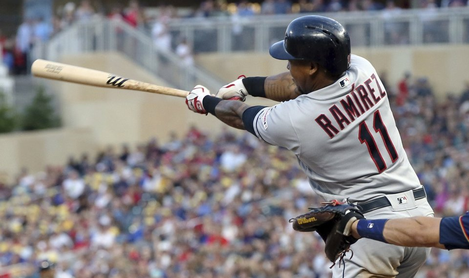 Indians hold on to take series opener from Twins, 7-5