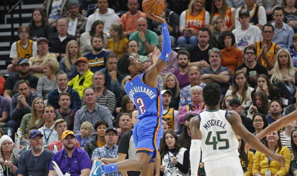 Jazz 100, Thunder 95: Shai Gilgeous-Alexander scores career-high ...