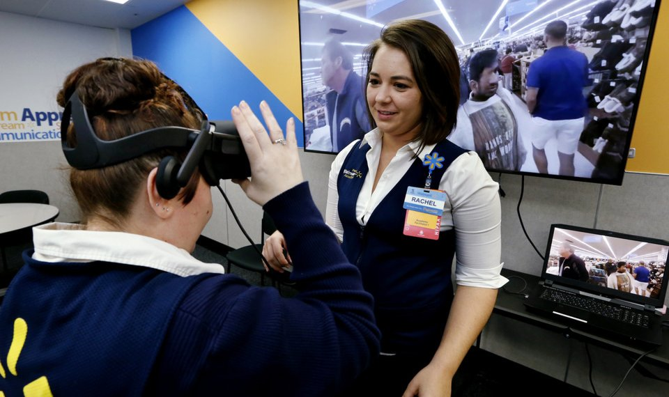 Walmart says virtual reality training is a hit with its staff