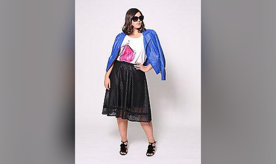 6a4072285e0 Related Photos Perforated moto jacket by Christian Siriano for Lane Bryant.   Photo Provided
