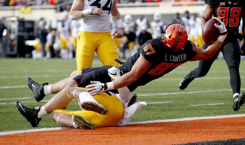 osu football journal logan carter made most of opportunity with td