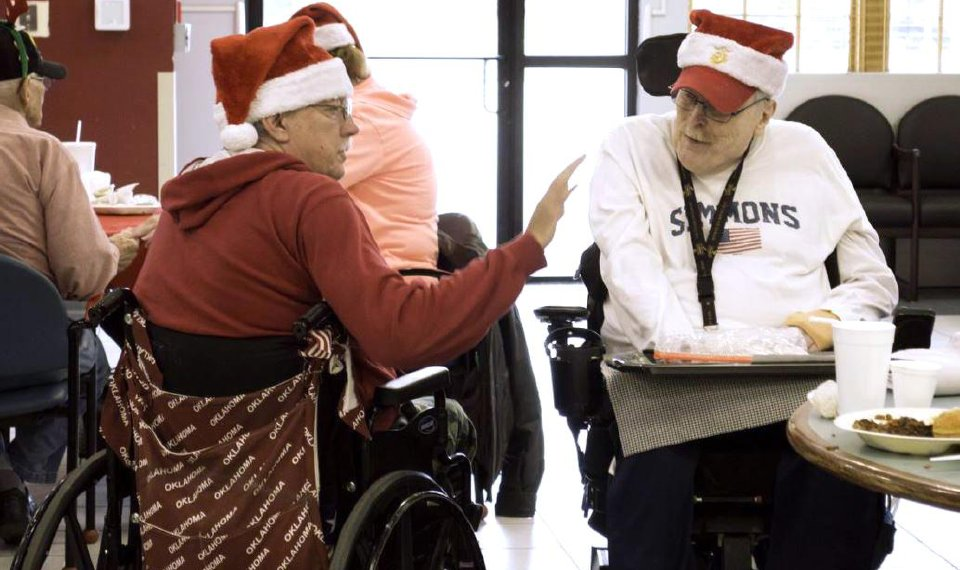 A Veterans Christmas.Veterans Share Christmas Lunch In Norman