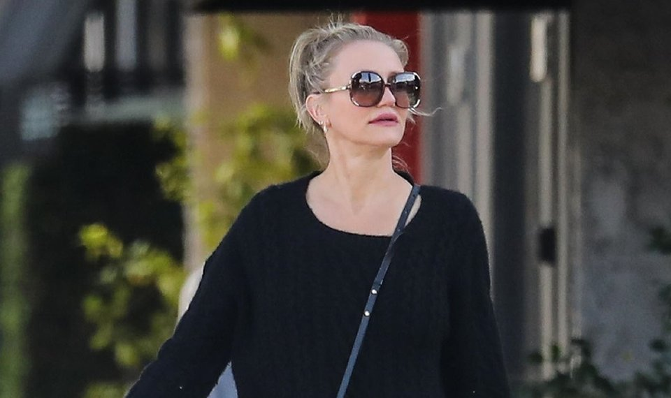 Cameron Diaz Rocks Jade Green Dress for Spa Day in WeHo